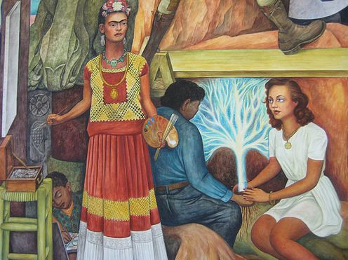 Diego rivera the pan american unity mural 1940 detail for Diego rivera pan american unity mural
