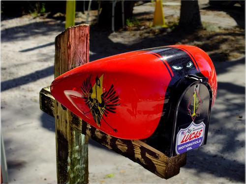 nifty colorful mailbox harleydavidson motorcycle fuel ta