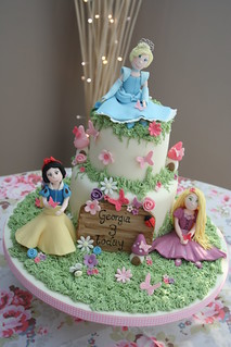 Disney Princess Themed cake | by katiescupcakes