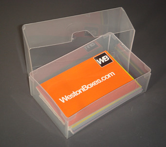 Clear plastic business card box a clear plastic business c flickr clear plastic business card box by westonboxes colourmoves