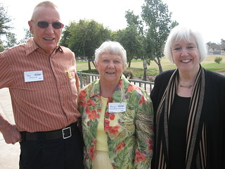 Ted Storck '54, Marlys Thorstad Charles '54, Chancellor Jacqueline Johnson | by University of Minnesota, Morris Alumni Association