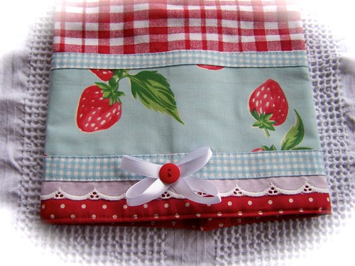 Red Gingham Kitchen Chair Pads
