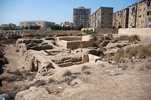 The elite Middle Kingdom cemetery at Tell Basta with the palace just beyond | by The Egypt Exploration Society