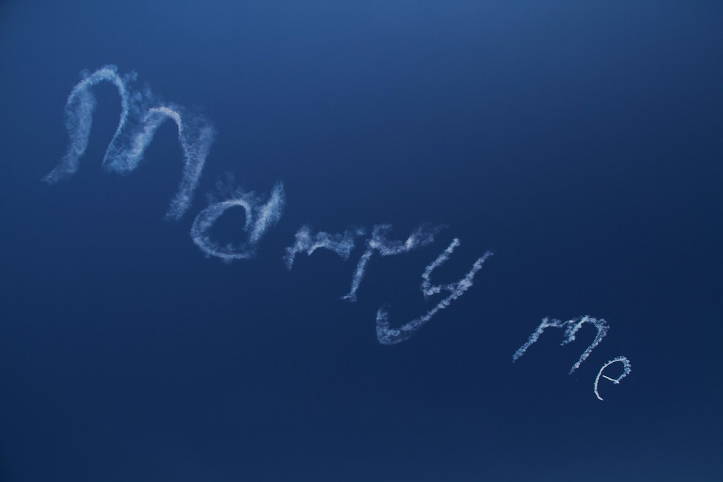 marry me skywriting