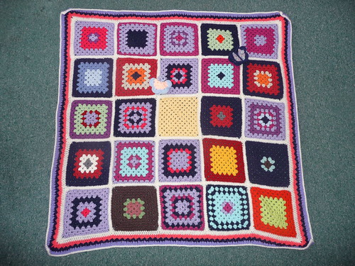 132 'Patchwork Granny'. | by MRS TWINS/SIBOL 'Sunshine International Blankets