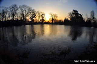 Late winter sunrise over the watering hole. | by robert.rinkel