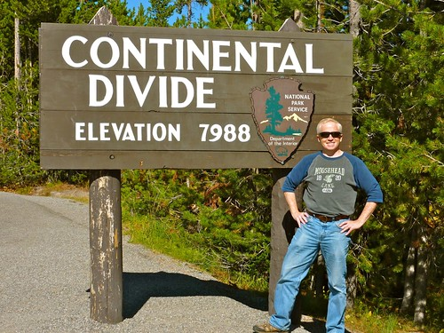 Lee at the Continental Divide in Yellowstone NP | by Lee Edwin Coursey
