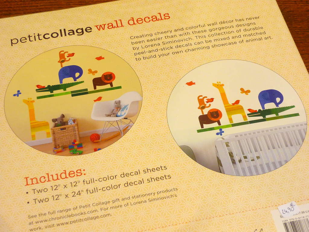 Petitcollage Wall Decals | Chronicle Books | Dax Rowling