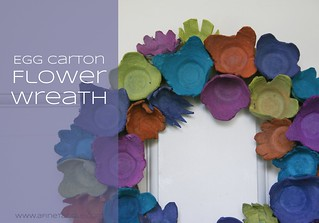 EggCartonFlowerWreathTutorial | by afinetangle