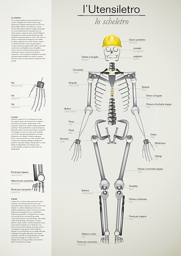 tools set/skeleton infographic poster | by Megrpx