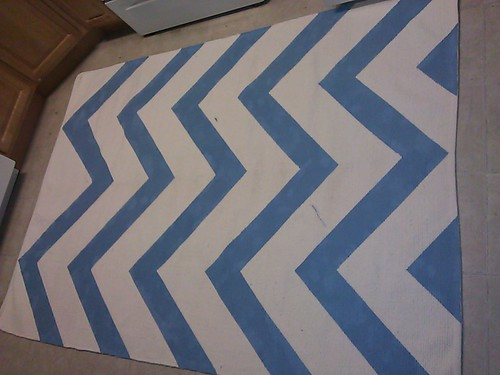 2011 12 26 21 53 30 Ikea Rug Painted With A Chevron