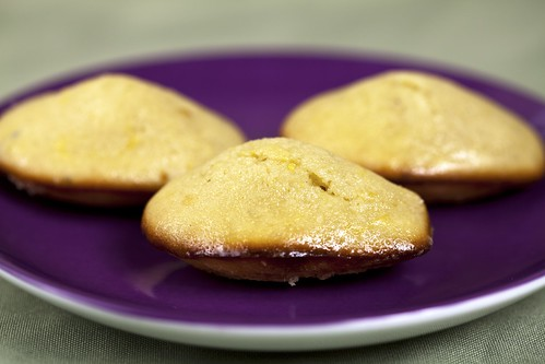 Lavender-Glazed Lemon-Thyme Madeleines | by spachethespatula