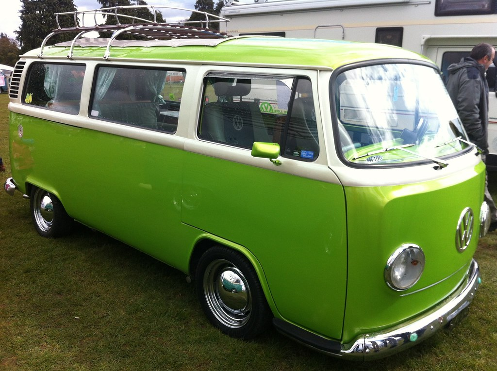 Lime Green Bay VW Campervan