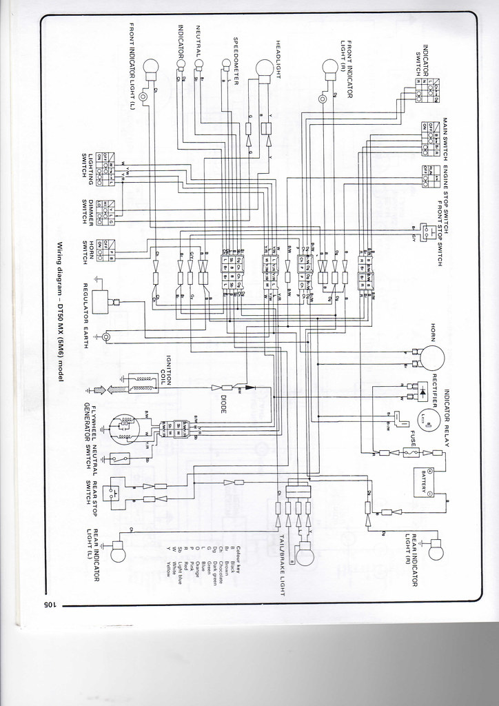 yamaha electrical wiring diagram