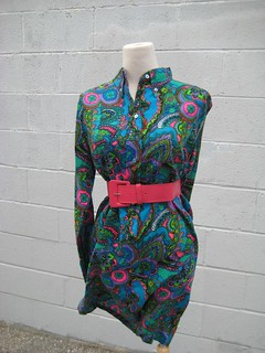 Psychedelic Blue Paisley Dress | by Myrtle Dove Vintage