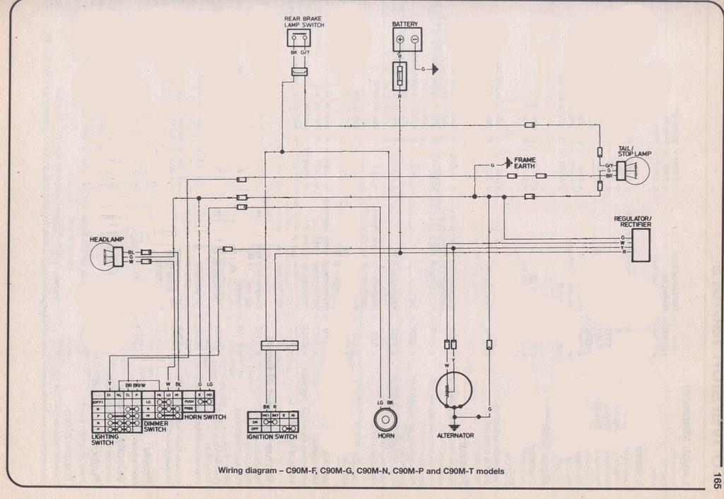 simplified c90 wiring for lights maxwell paternoster flickr rh flickr com honda c90 electrical diagram honda c90 cdi wiring diagram
