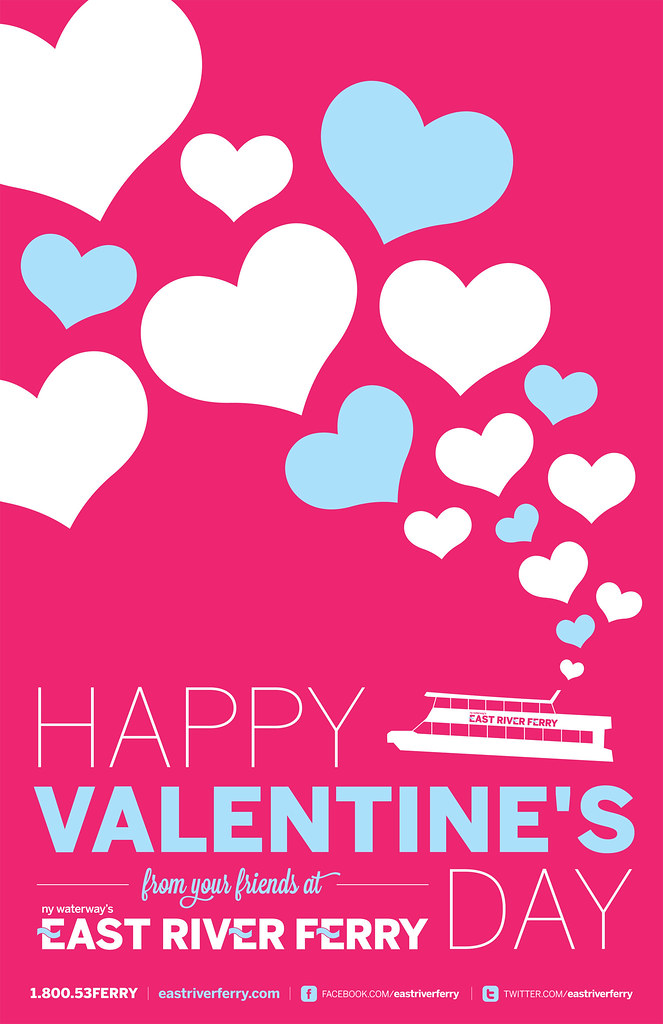 east river ferry valentines day poster by mcmillianco - Valentine Poster