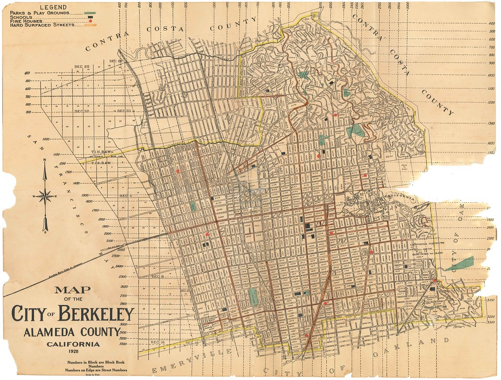 Map of the City of Berkeley Alameda County California 1 Flickr