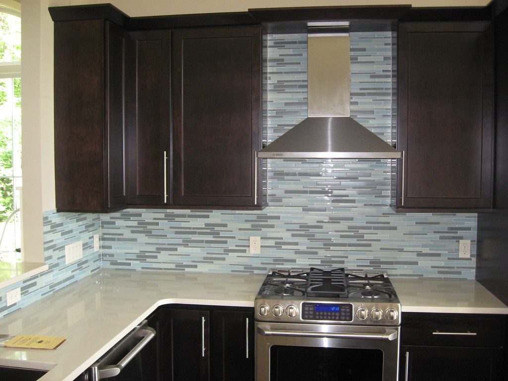 ... Tile Backsplash Oceanside Glass Aqua | By DeGraaf Interiors