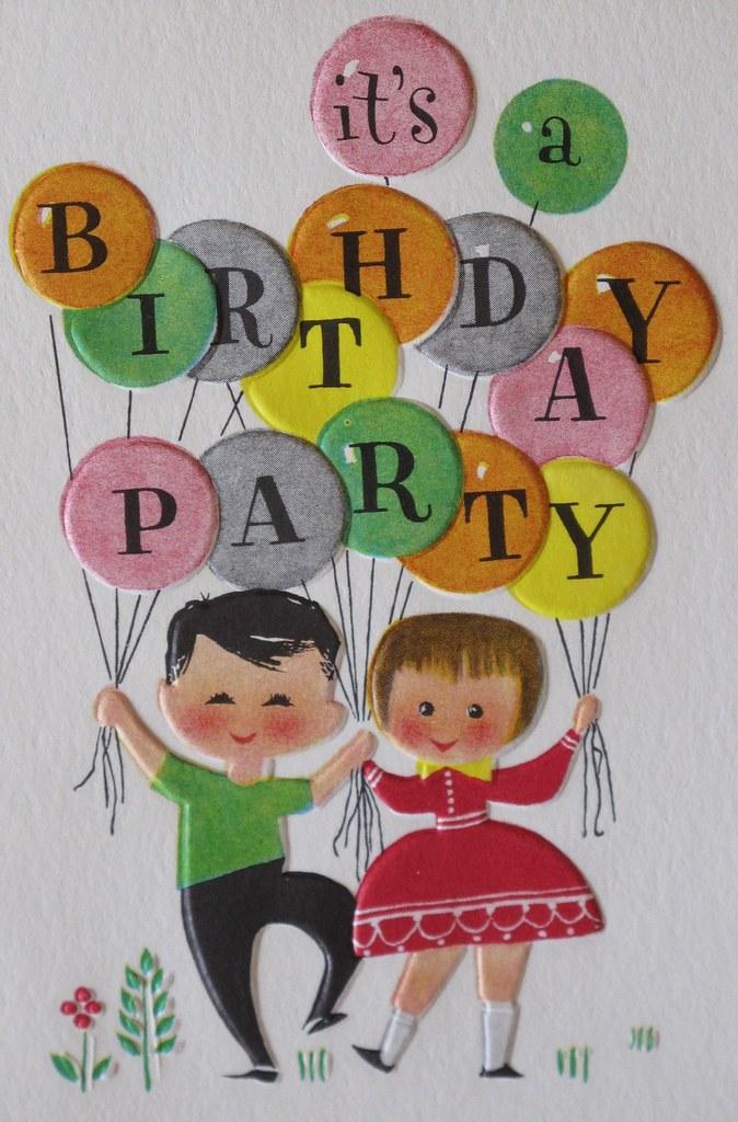 Vintage Hallmark Birthday Party Invitation | Interior reads:… | Flickr