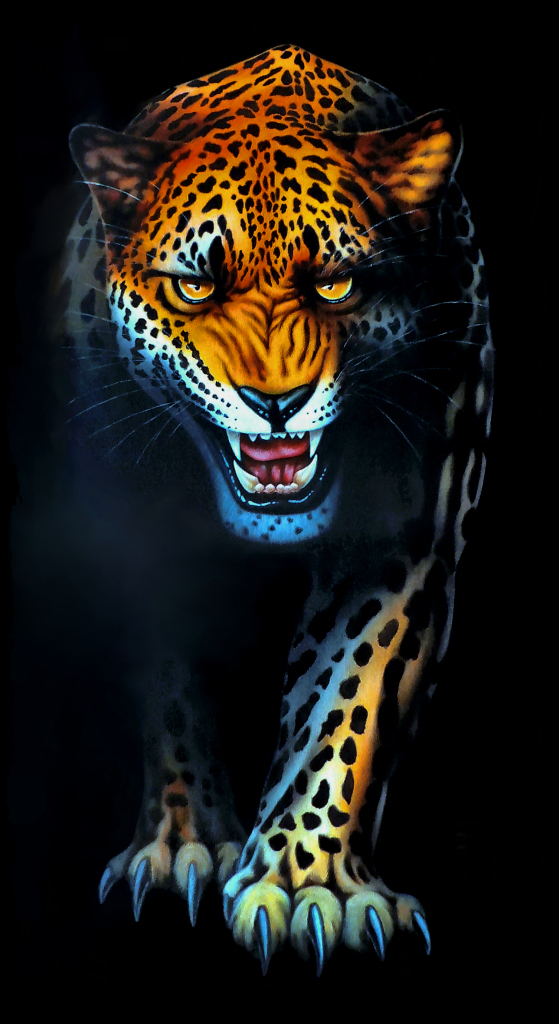 Macan Kumbang Gentayangan Leopard Painting On 140x60 Cm Ca Flickr