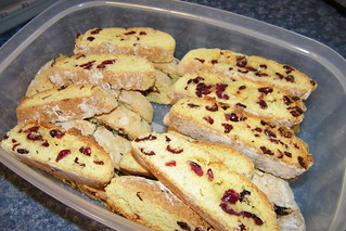 266/365/1361 (March 3, 2012) – Cranberry and Orange Biscotti | by cseeman