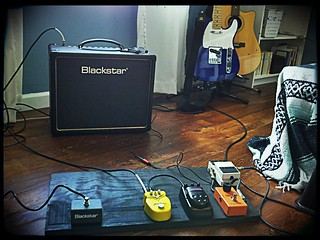 New Blackstar combo with the pedal board. | by Josh Self