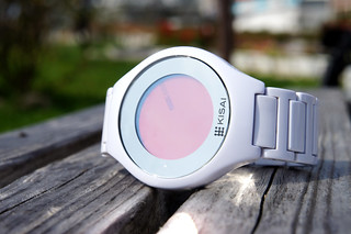Kisai On Air Acetate White Touch Screen Minimal LCD Watch Design From Tokyoflash Japan | by Tokyoflash Japan
