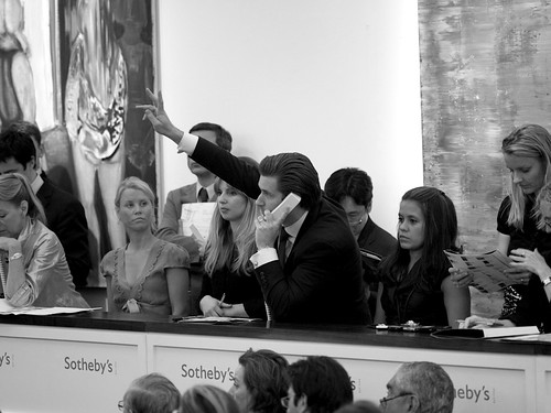 Telephone bidding, Sotheby's, A Joy Forever | by neil cummings