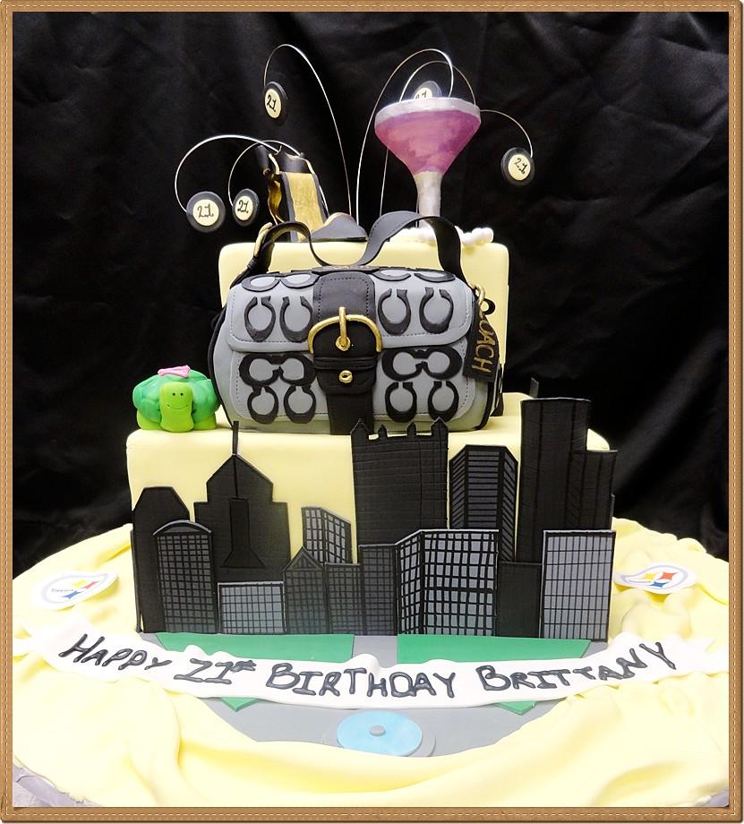 3d Custom Fondant Birthday Cake Pittsburgh City And Coach Flickr