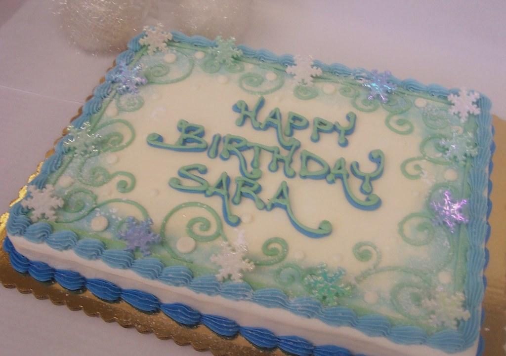 Winter Birthday Cake Ashleys Pastry Shop Flickr