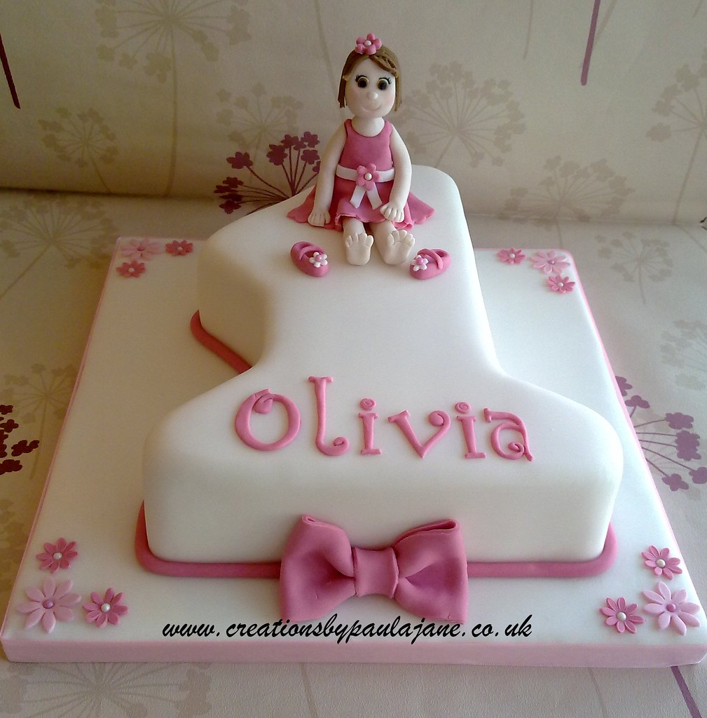 Girls 1st Birthday Cake Creationsbypaulajane Flickr