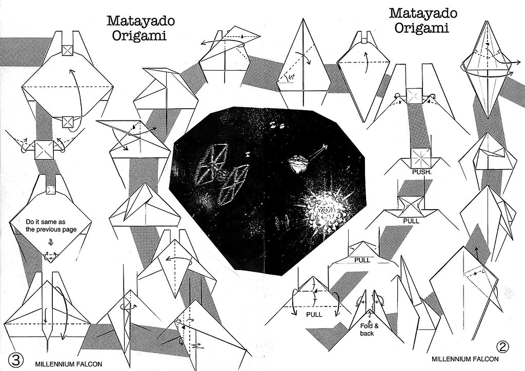 Millennium Falcon Origami Diagram 2 If You Finished To Fol Flickr
