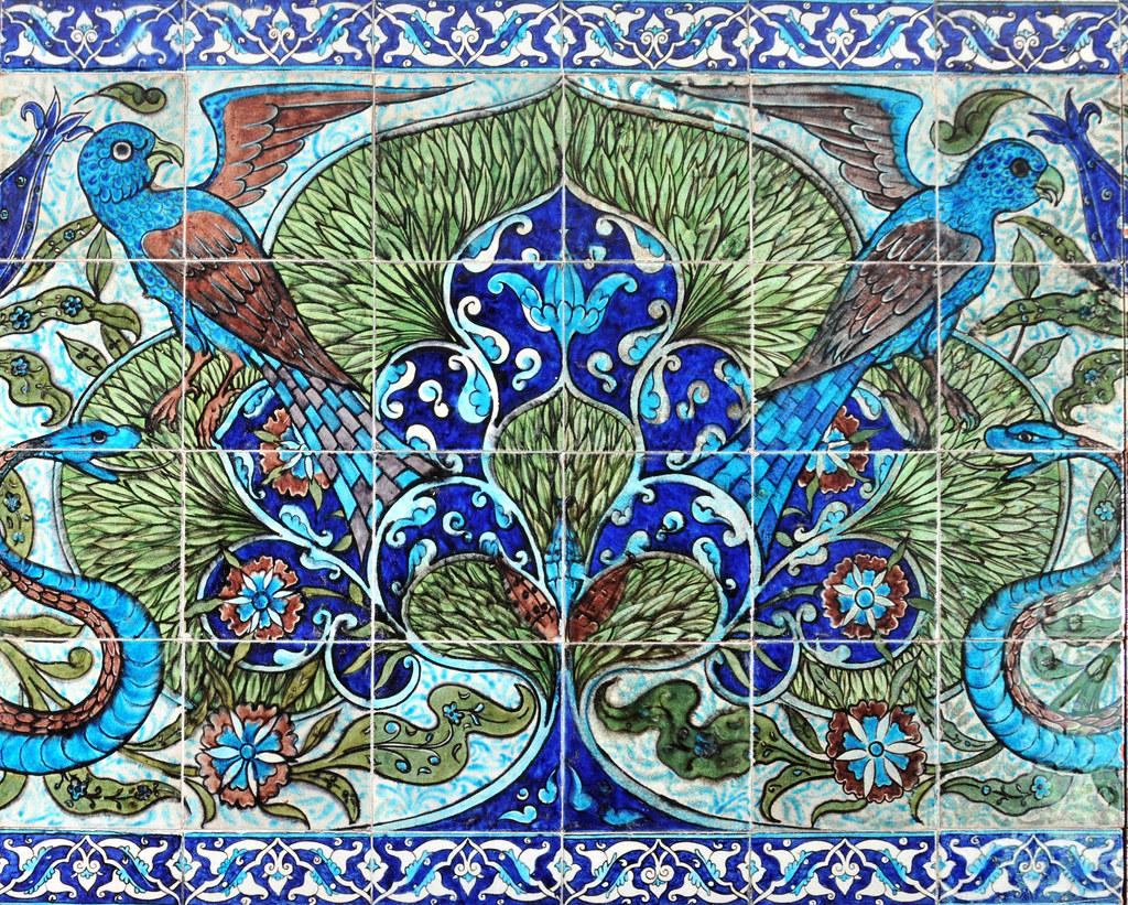 William De Morgan tile panel | Detail of a large panel (no, … | Flickr