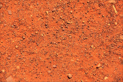 Red Sand Sand Near The Uluru In The Outback Of Australia