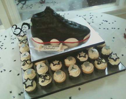 Michael Jordan Sneaker cake cupcakes Becky Currie Flickr
