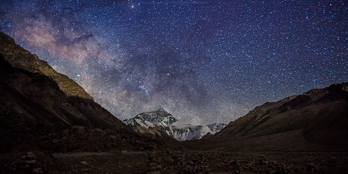 Partial milky way over mt. Everest | by CoolbieRe