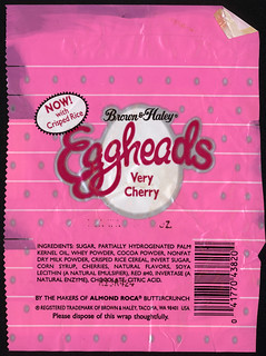 Brown and Haley - Eggheads - very cherry - candy wrapper - 1980's | by JasonLiebig