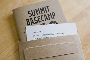 Summit Basecamp: Sketchnote Booklet, Note & Envelope | by Mike Rohde
