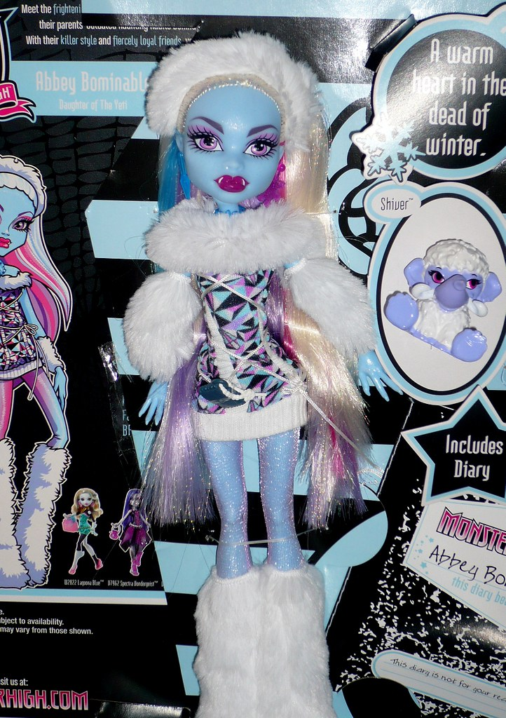 monster high abbey bominable by barbwireblonde2