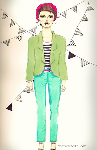In my Sketchbook: Girl with the Green  Jacket | by Jhoanna Monte