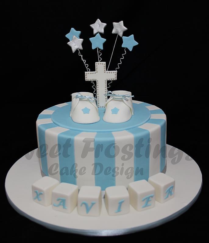 boys baptism cake last minute baptism cake for an extremel flickr