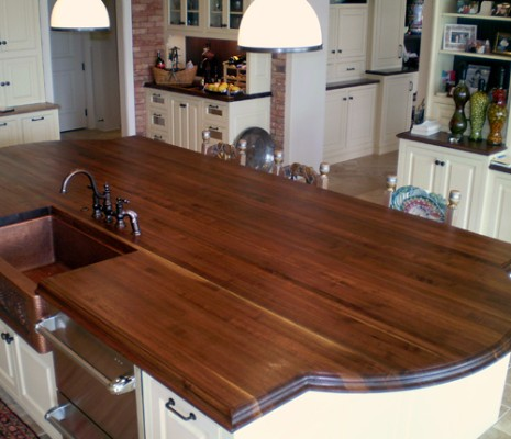 Custom Wood Kitchen Island Top | Wood Species: Walnut Constr… | Flickr
