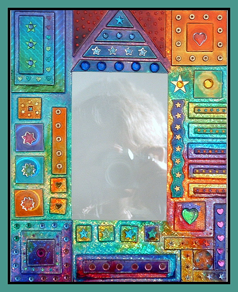 Glass painted picture frame i used different patterned hol flickr glass painted picture frame by sooozyq jeuxipadfo Images