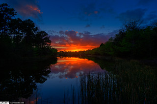 Sunset Over Lake in Palm Beach County Florida | by Captain Kimo