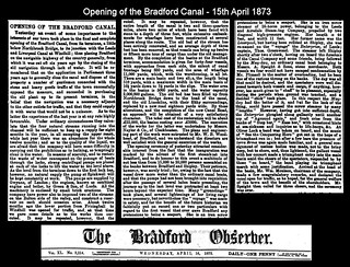Opening of the Bradford Canal - 15th April 1873 | by Bradford Timeline