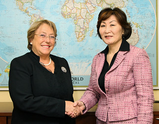 UN Women Executive Director Michelle Bachelet meets with Badraa Dolgor, Senior Advisor to the Prime Minister and Deputy Chair for the National Committee on Gender Equality of Mongolia | by UN Women Gallery