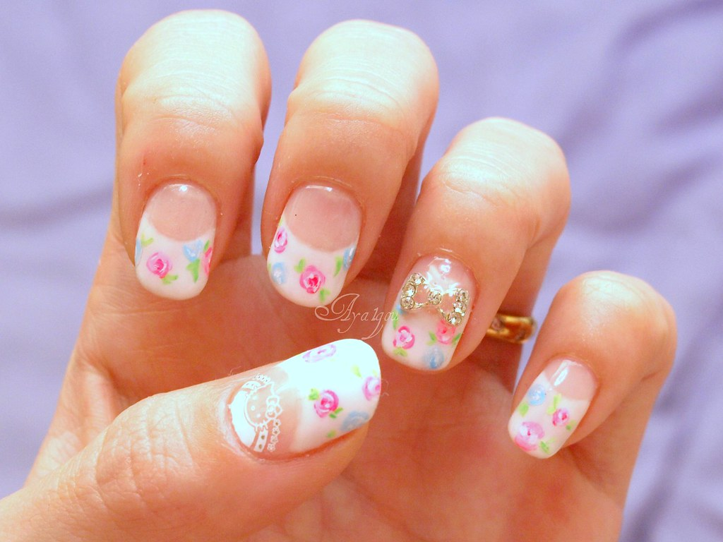 White deep french tips | I cut my free edges, so this french… | Flickr