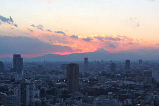 Mt. Fuji sunset from Tokyo Tower | by kevin dooley