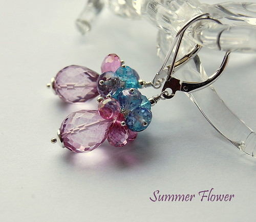 Summer Flower Earrings | by gemwaithnia